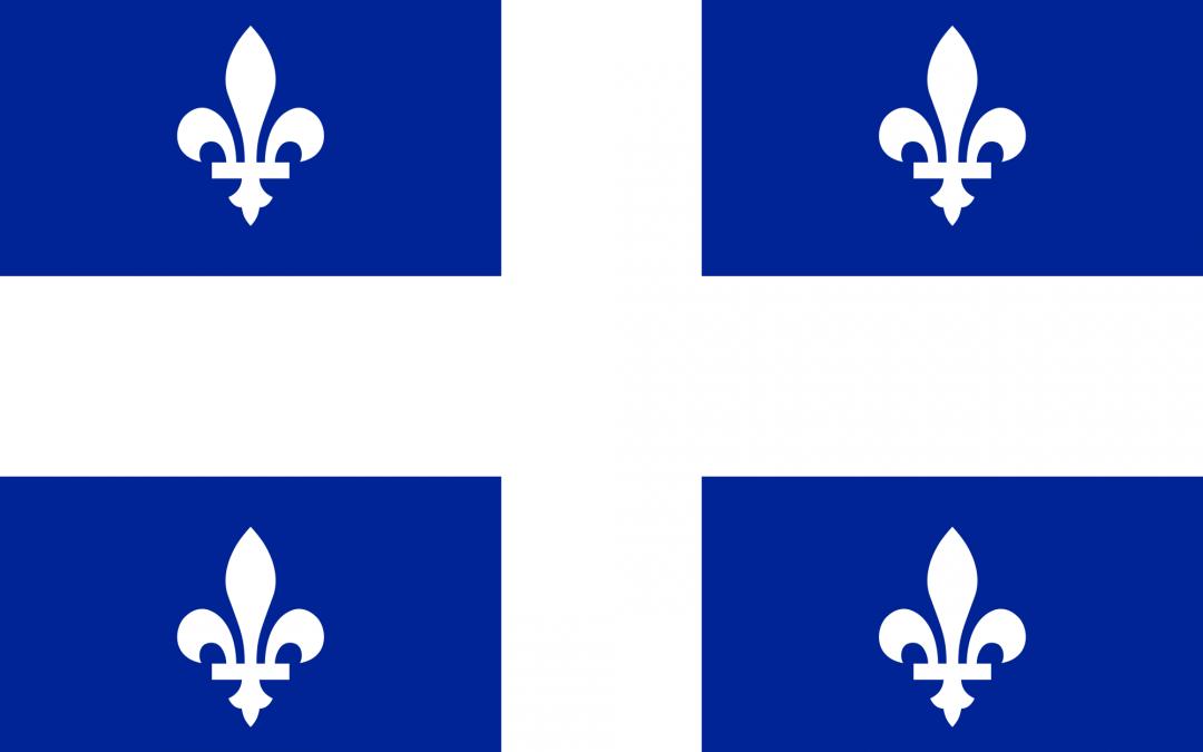 Historique du drapeau fleurdelisé