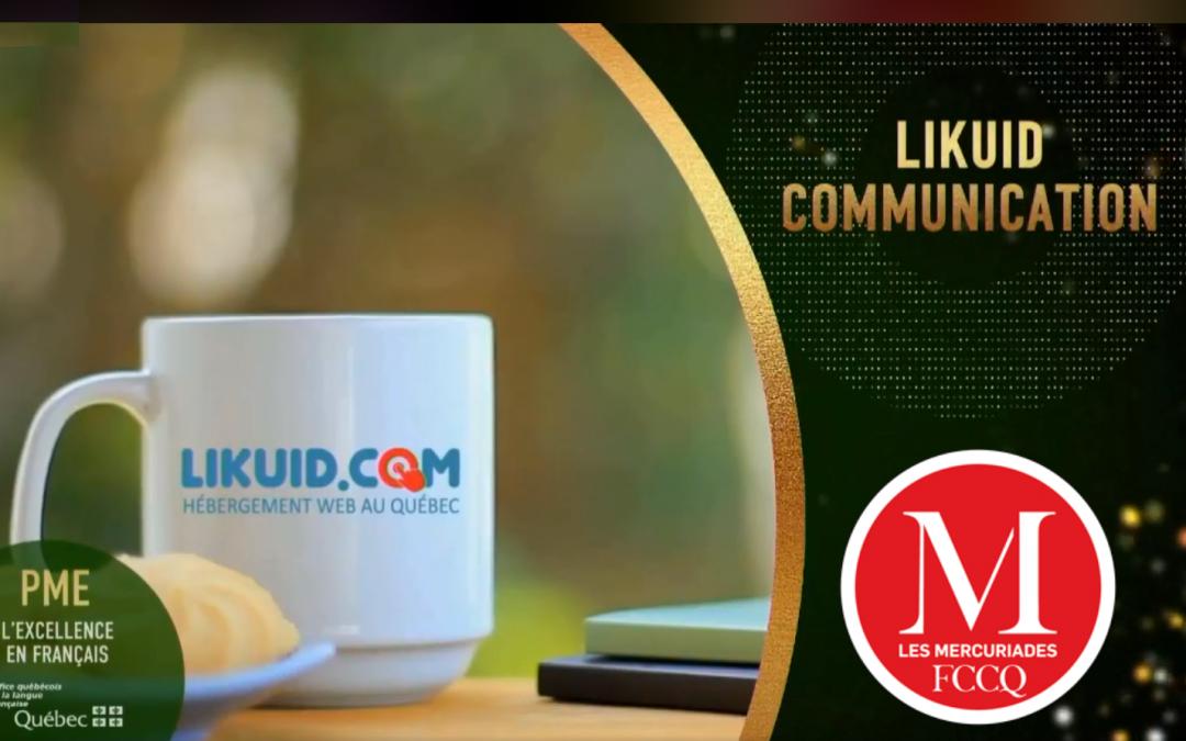 LIKUID.COM – Lauréat à la 40ème édition du prestigieux concours d'affaires Les Mercuriades