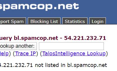 Le service anti-spam SpamCop de Cisco a subi une panne après que son domaine a expirer par erreur.